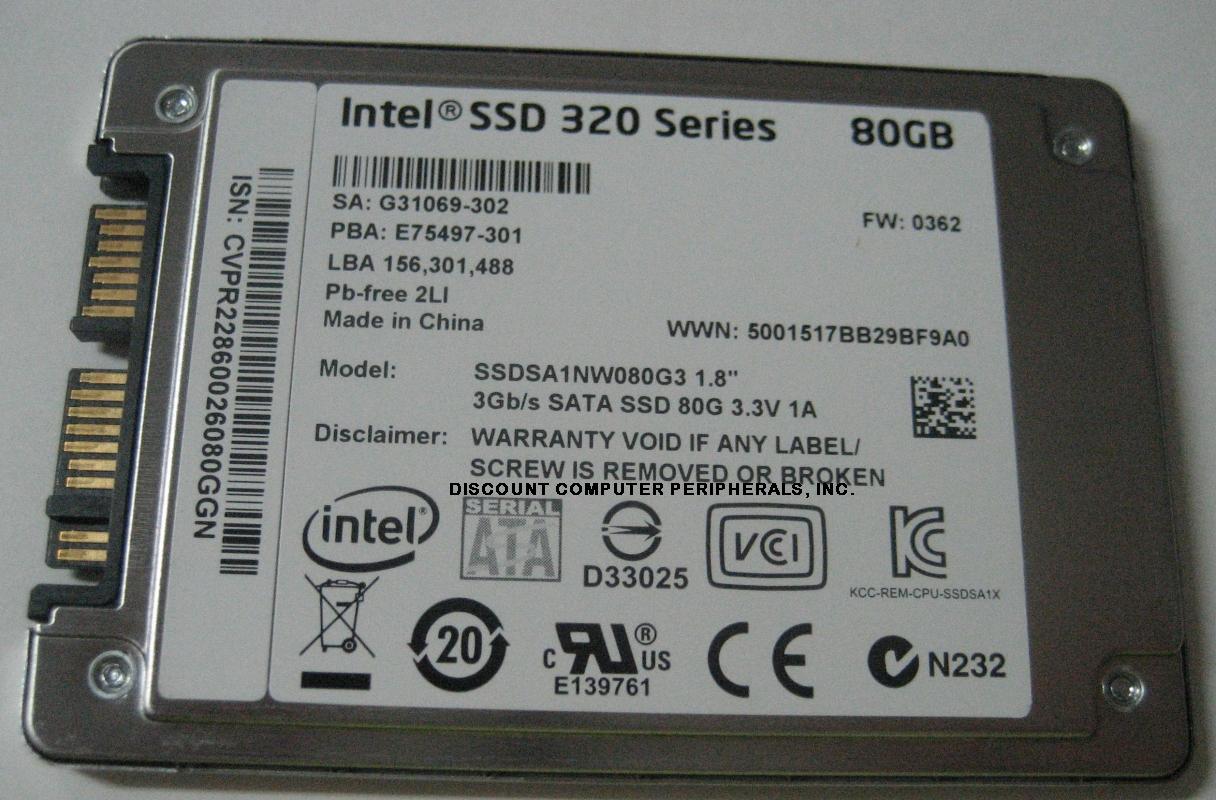 Intel SSDSA1NW080G3