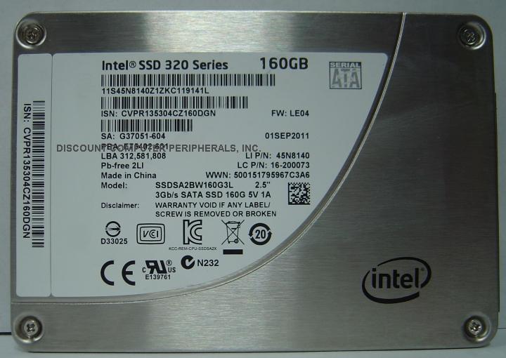 Intel SSDSA2BW160G3L