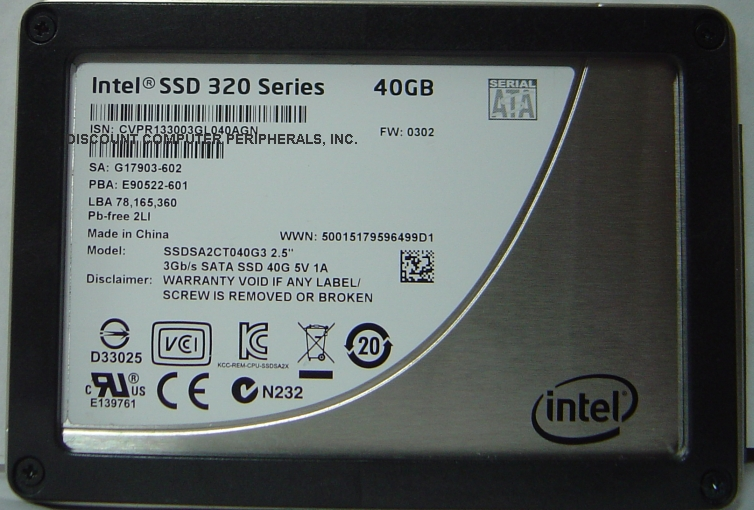 Intel SSDSA2CT040G3