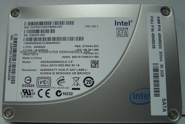 Intel SSDSA2M080G2LE
