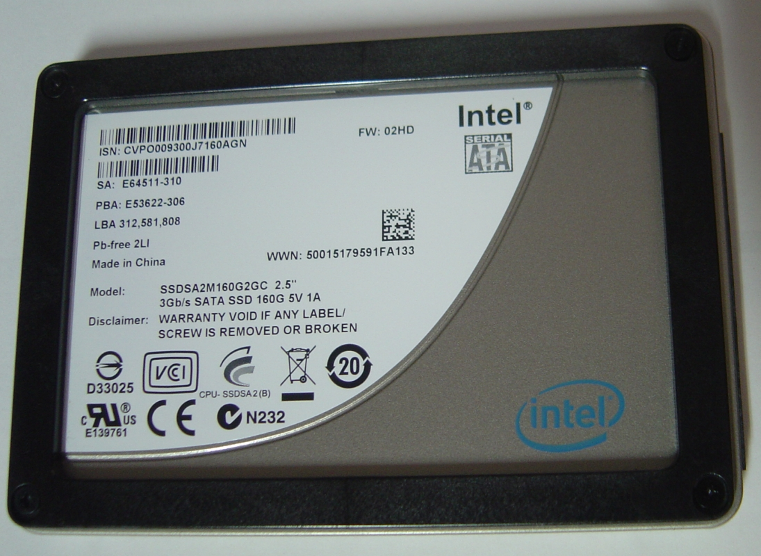 Intel SSDSA2M160G2GC