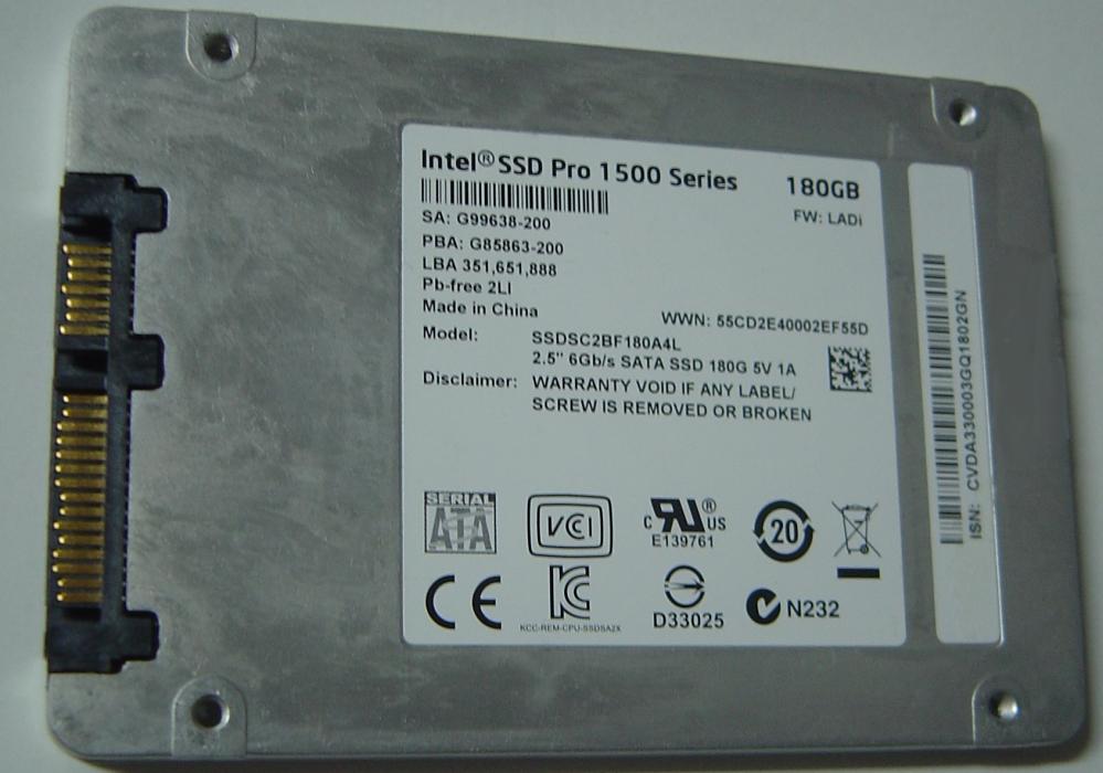 INTEL SSDSC2BF180A4L