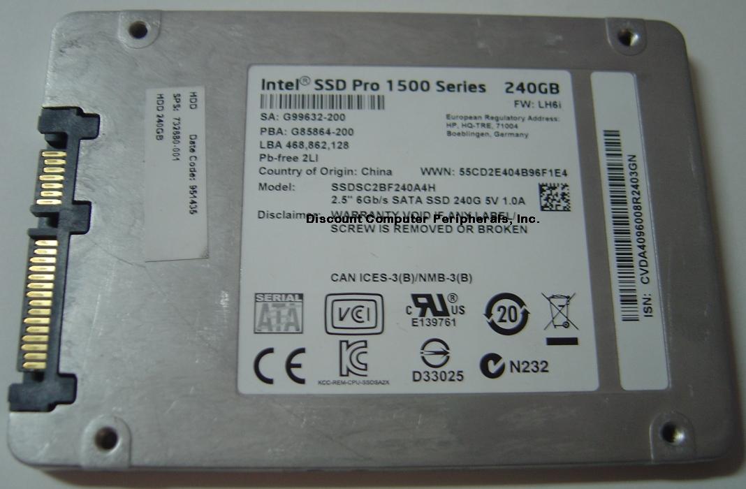 Intel SSDSC2BF240A4H