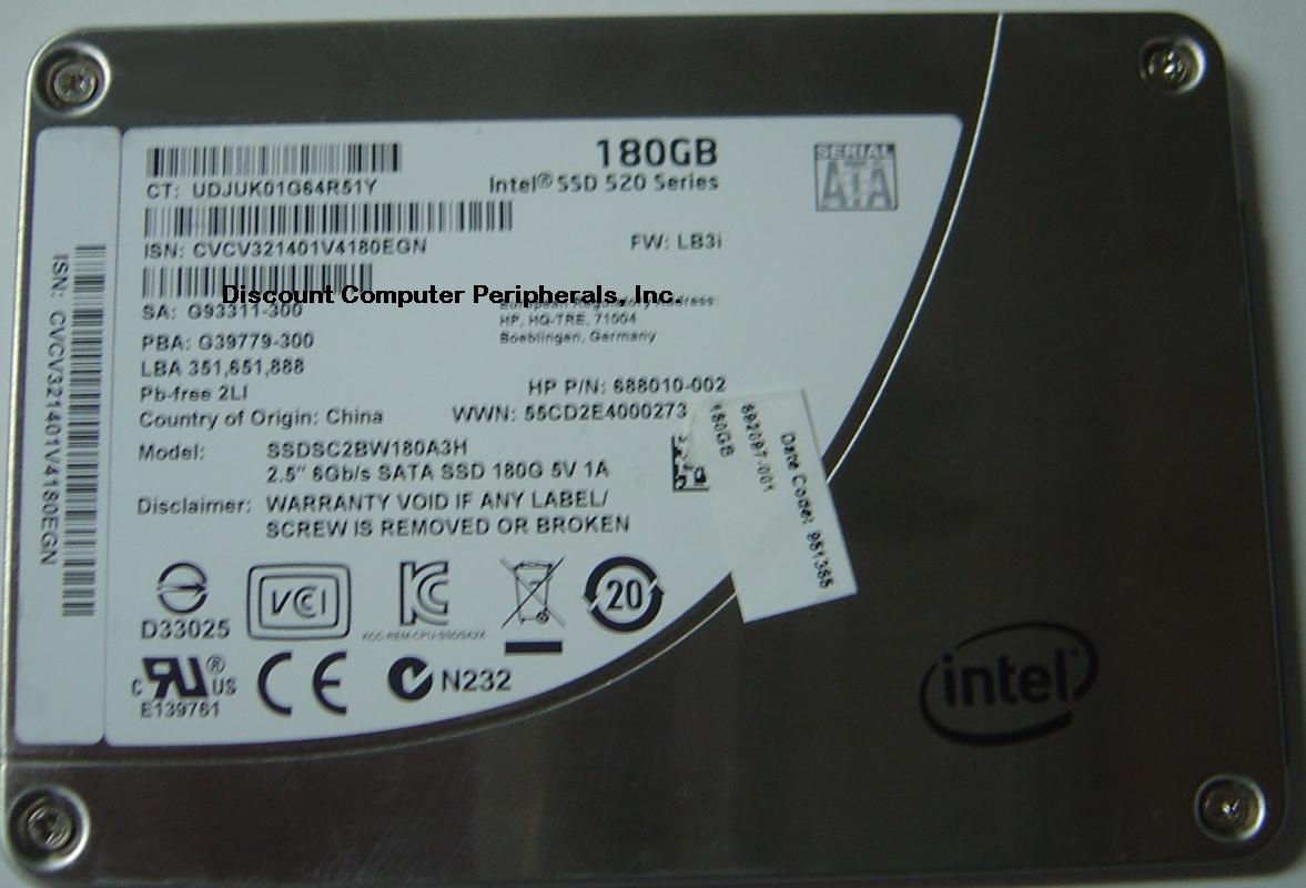 Intel SSDSC2BW180A3H