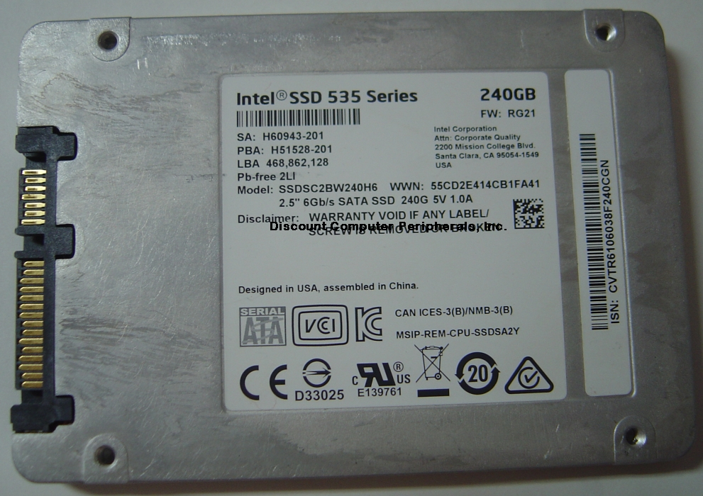 INTEL SSDSC2BW240H6