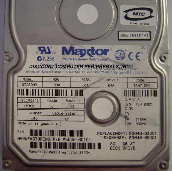 Maxtor 5T030H3