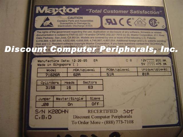 Maxtor 71626A