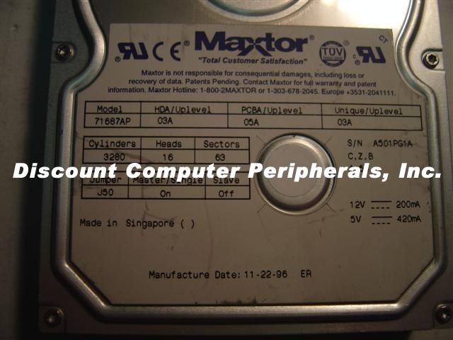 Maxtor 71687AP