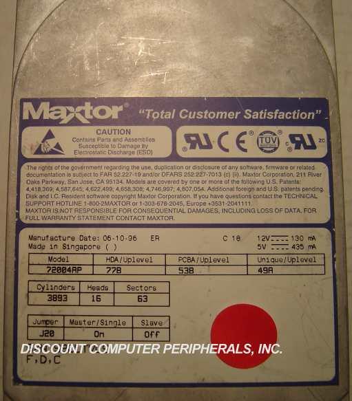 Maxtor 72004AP