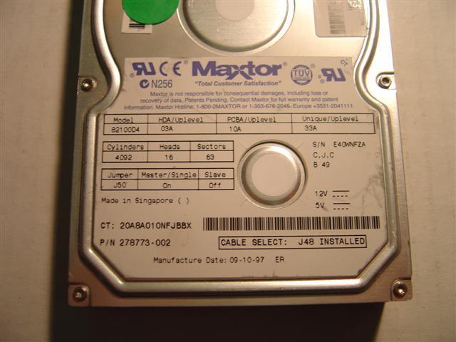 Maxtor 82100D4