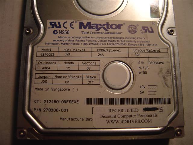 Maxtor 82100E3