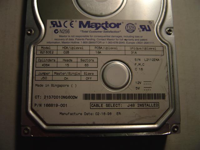 Maxtor 82160E2