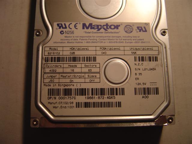 Maxtor 82161E2