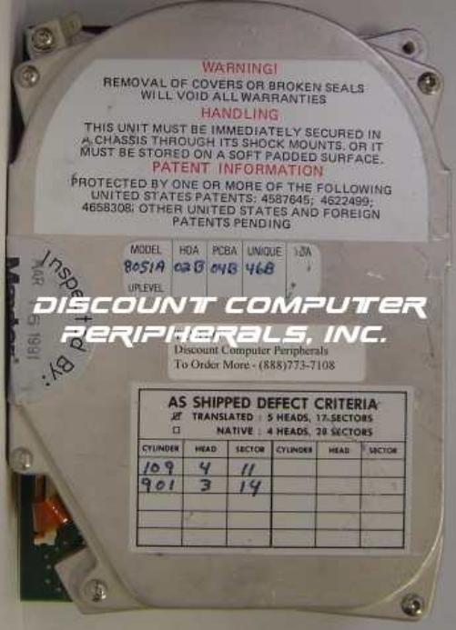Miniscribe 8051A
