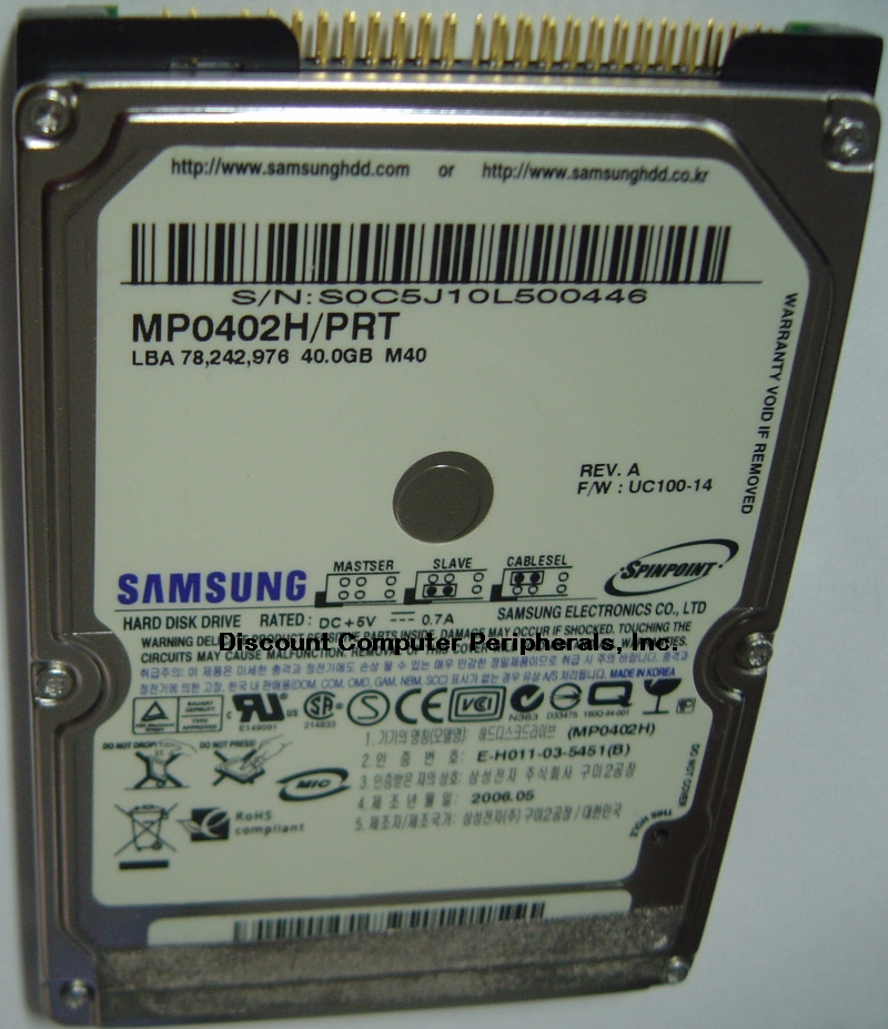 Samsung MP0402H_PRT