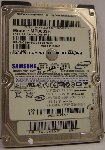 Samsung MP0603H