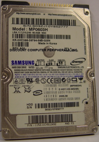 Samsung MP0603H_NEW