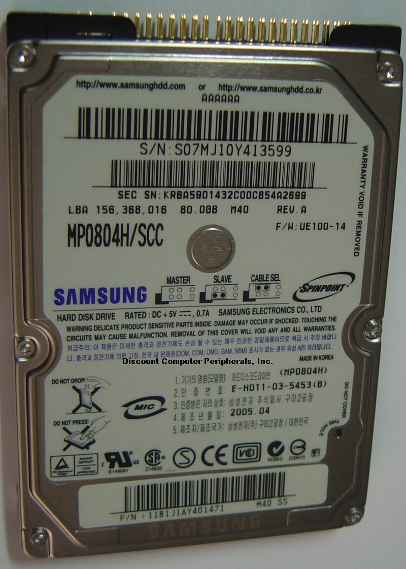 Samsung MP0804H_SCC