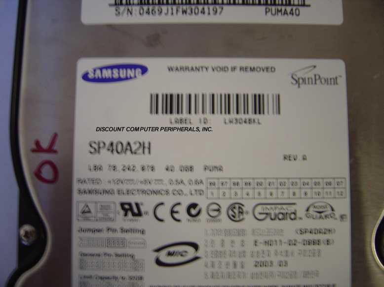 Samsung SP40A2H