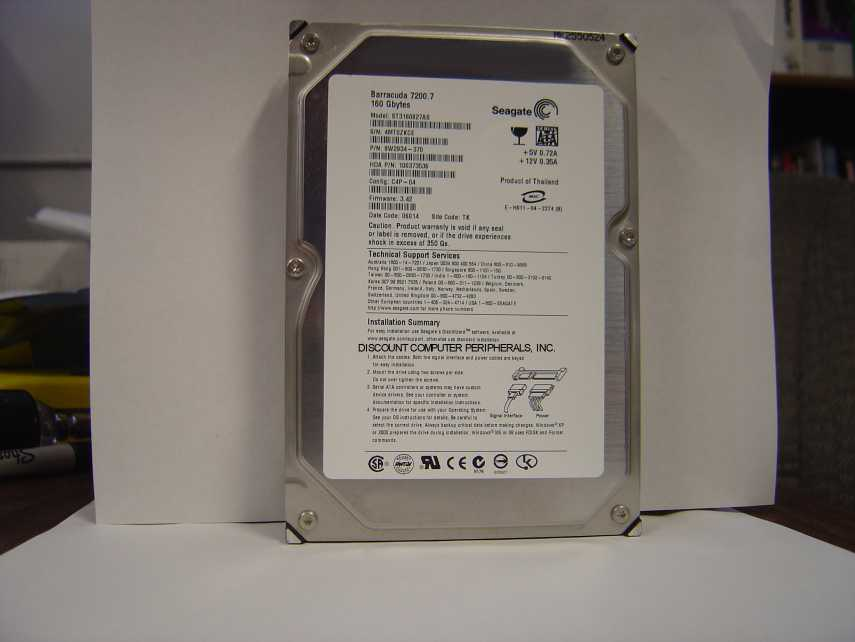 Seagate ST3160827AS