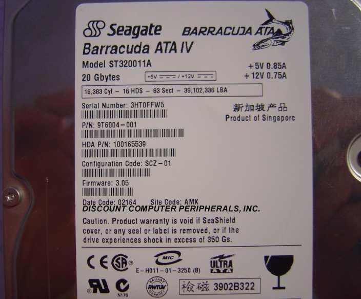 Seagate ST320011A