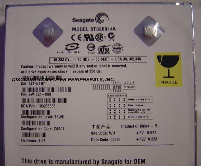 Seagate ST320014A