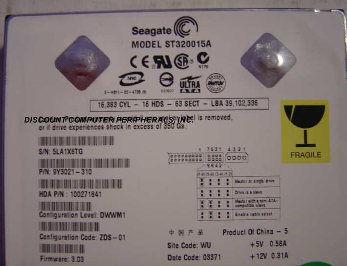 Seagate ST320015A