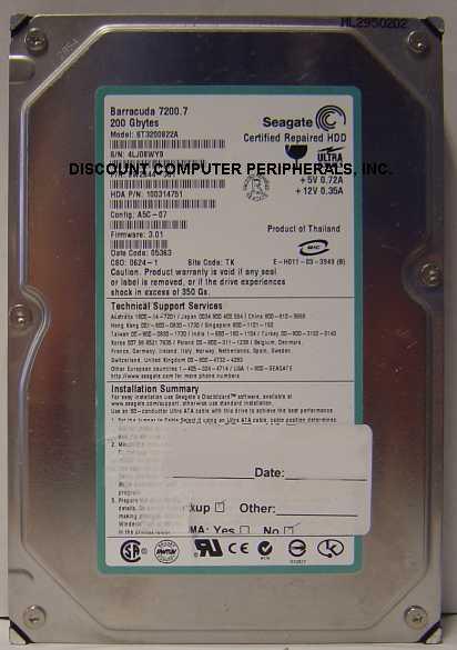 Seagate ST3200822A