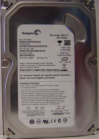 Seagate ST3250410AS