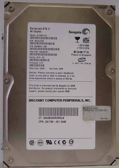 Seagate ST340017A