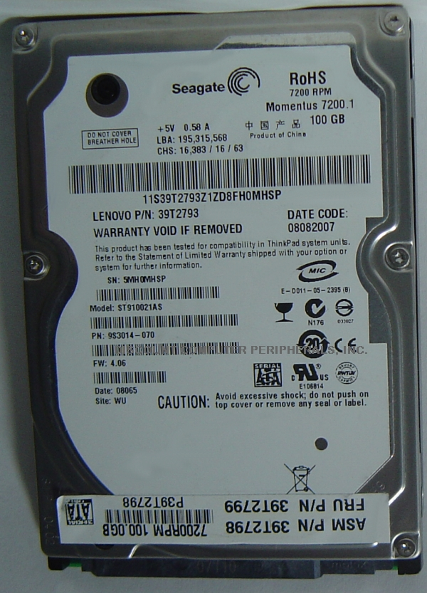 Seagate ST910021AS