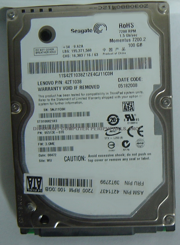 SEAGATE ST9100821AS