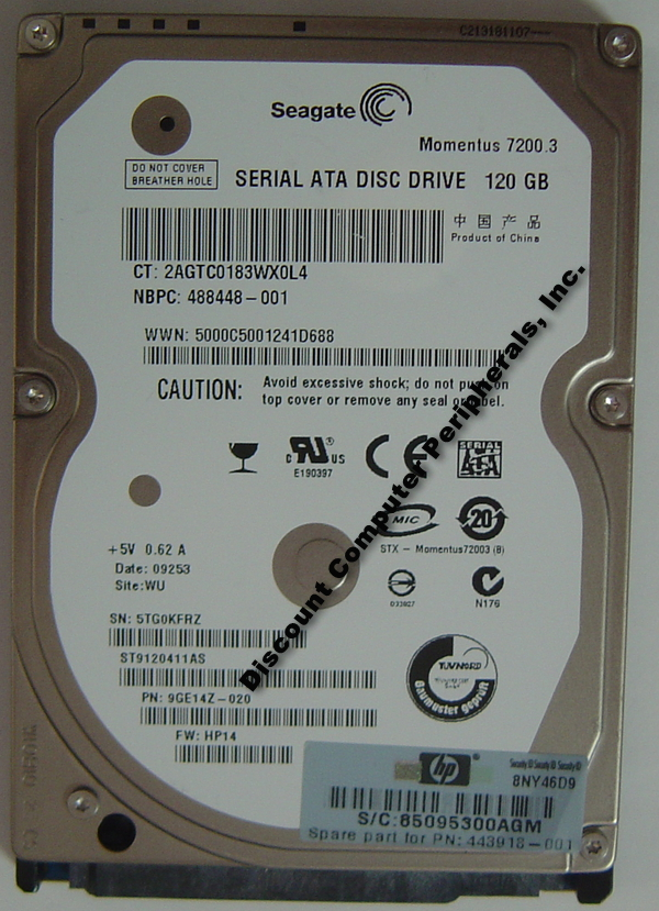 Seagate ST9120411AS