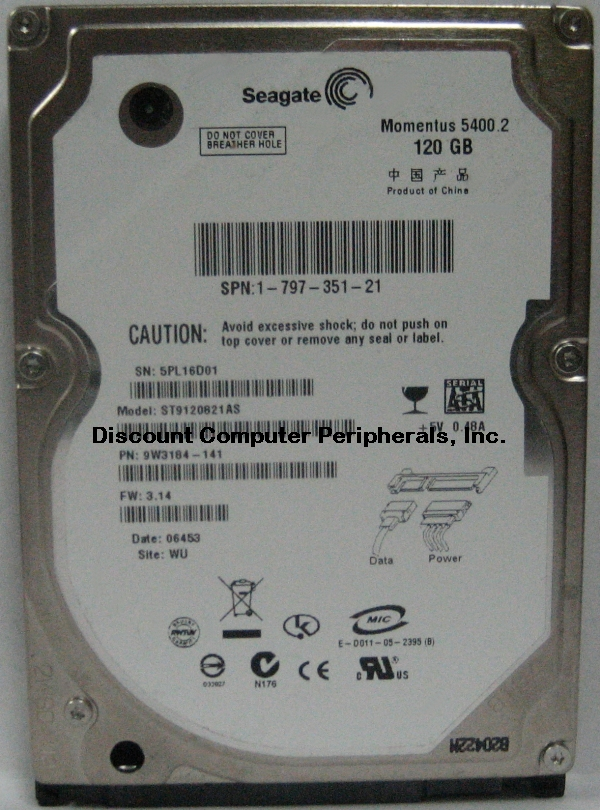 Seagate ST9120821AS