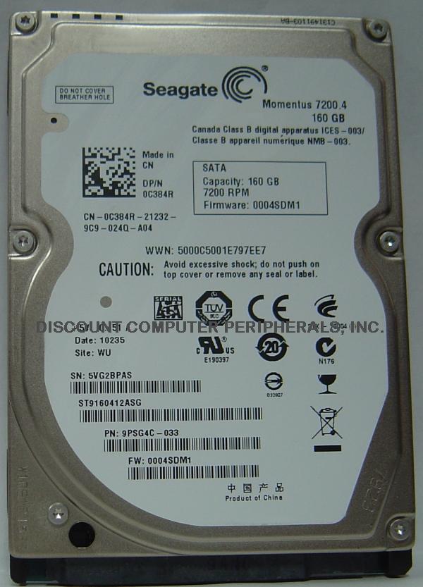 Seagate ST9160412ASG