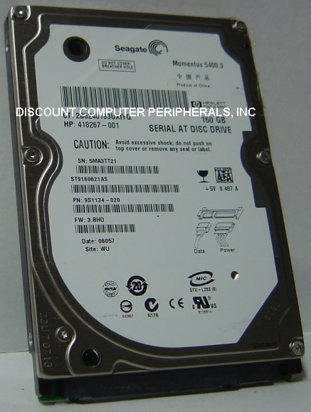 Seagate ST9160821AS