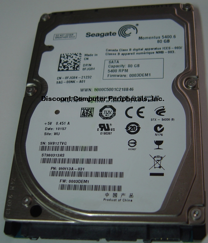 Seagate ST980313AS