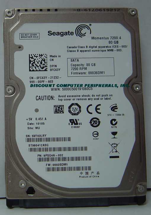 Seagate ST980412AS