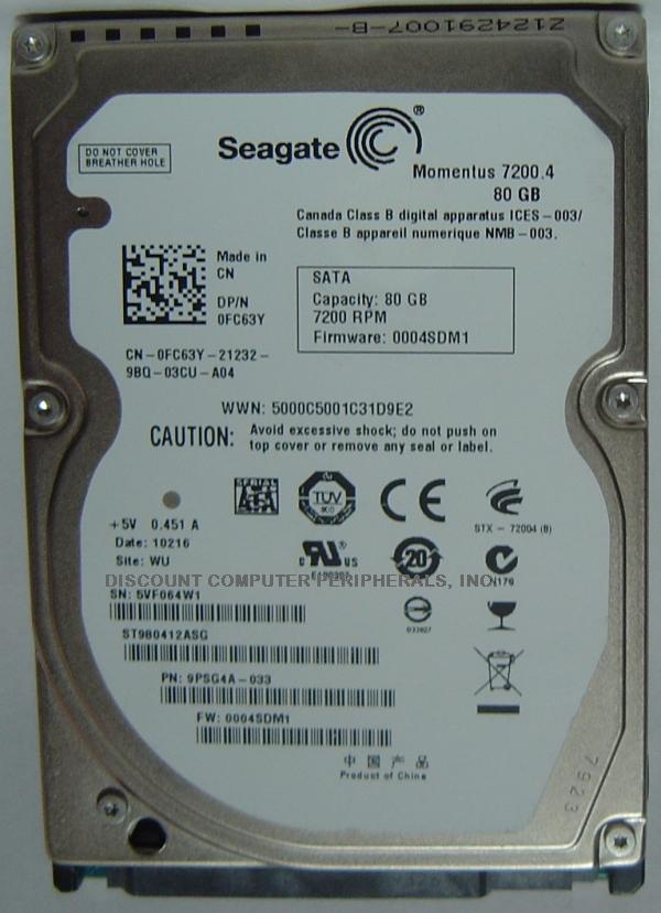 Seagate ST980412ASG
