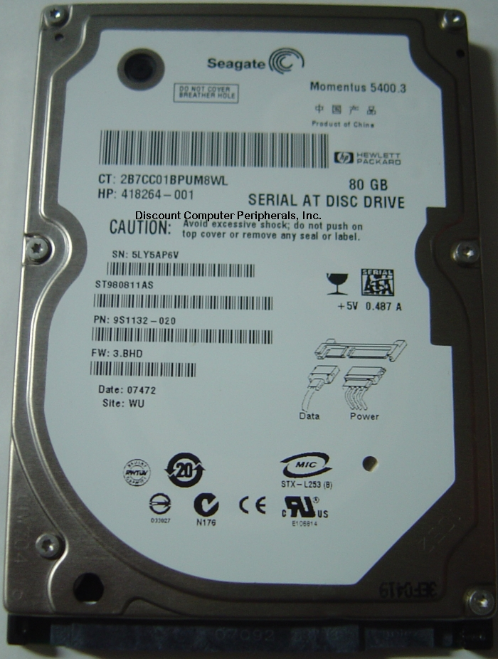 Seagate ST980811AS_NEW