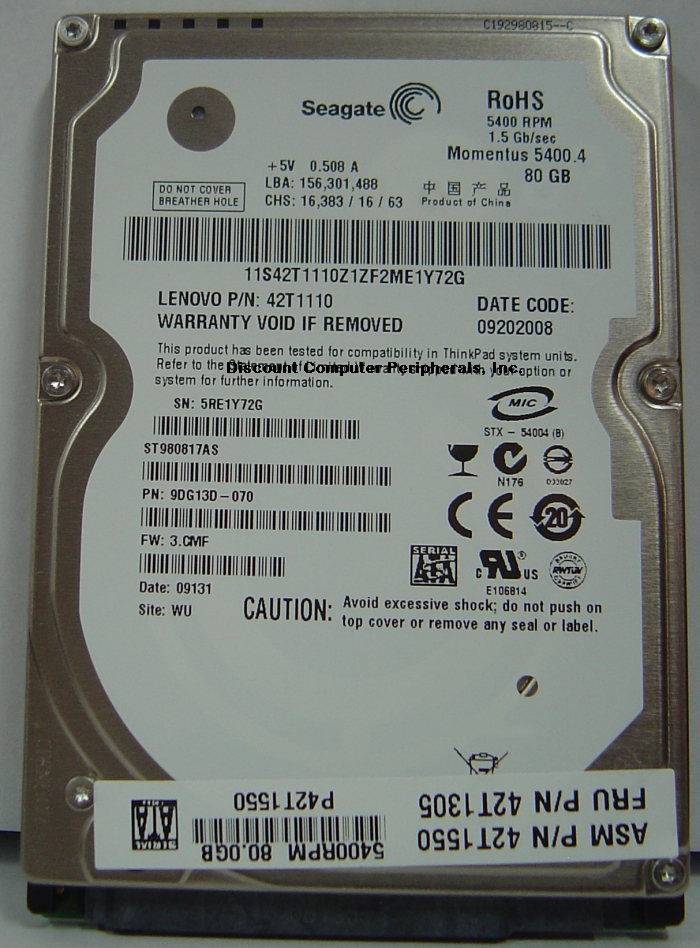 Seagate ST980817AS