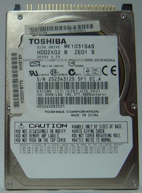 Toshiba MK1031GAS
