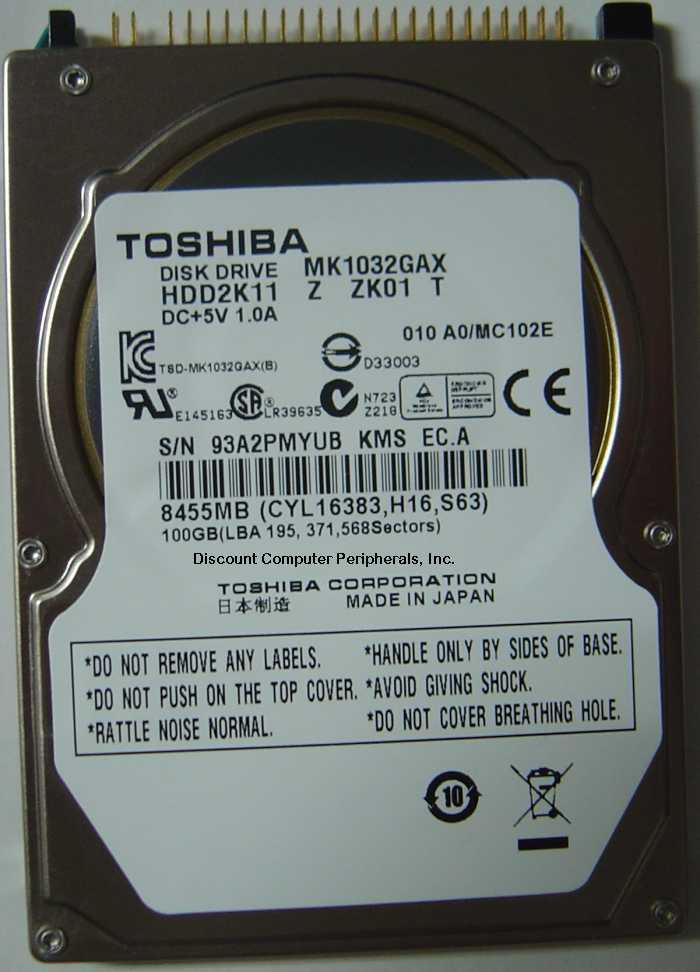 Toshiba MK1032GAX_NEW