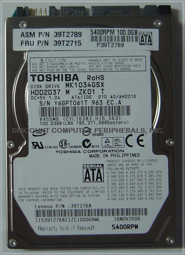 Toshiba MK1034GSX