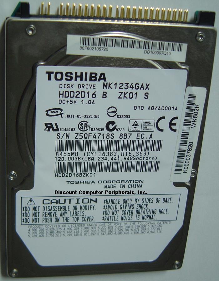 Toshiba MK1234GAX