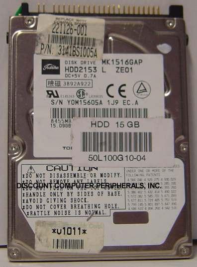 Toshiba MK1516GAP