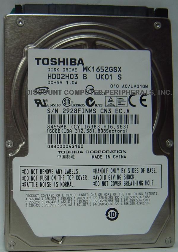 Toshiba MK1652GSX