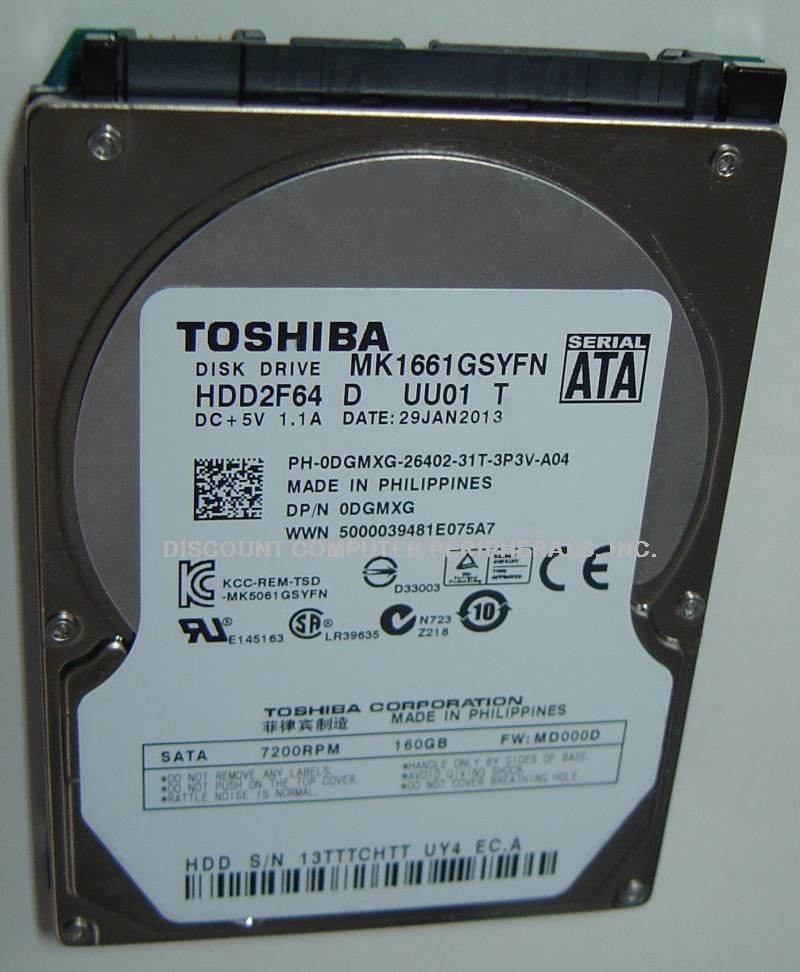 Toshiba MK1661GSYFN