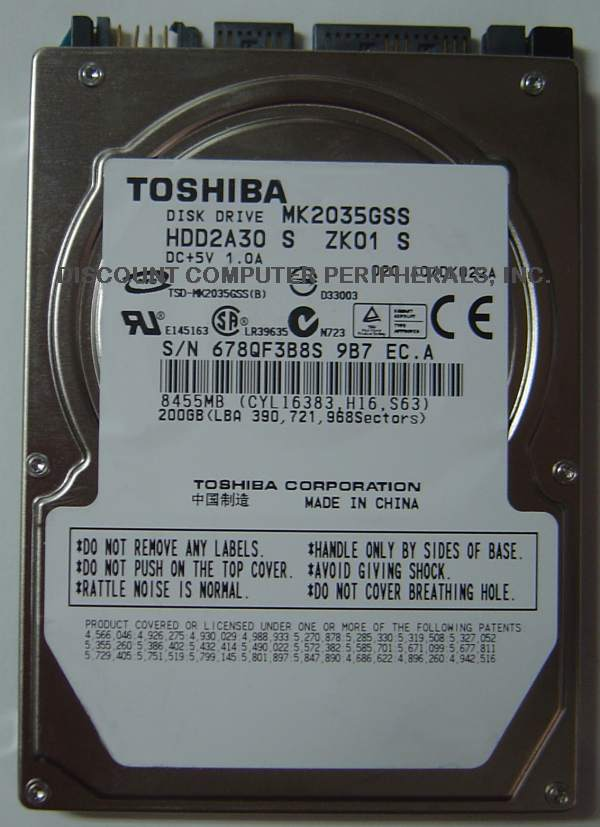 Toshiba MK2035GSS