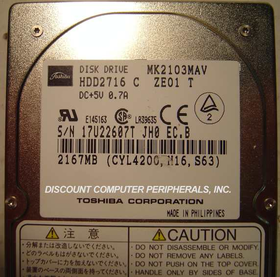 Toshiba MK2103MAV